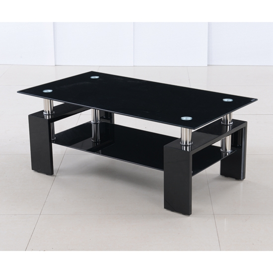 Stunning Deluxe Glass And Black Coffee Tables With Regard To Stylish Ikea Glass Top Coffee Table (View 3 of 50)