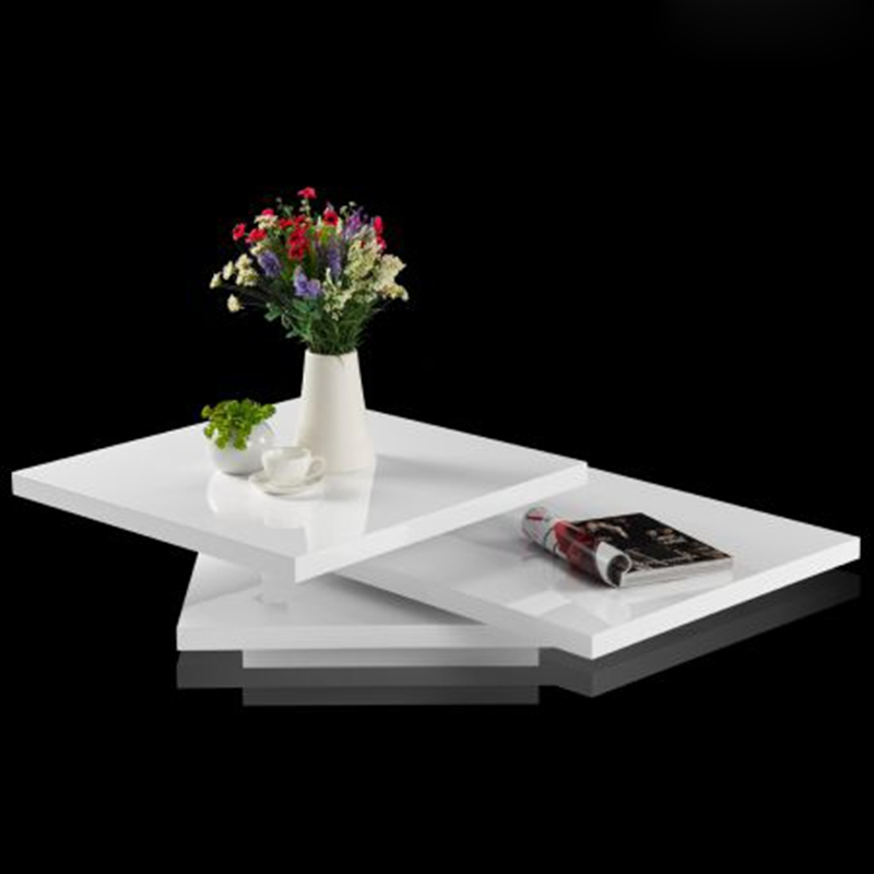 Stunning Deluxe High Gloss Coffee Tables In High Gloss Coffee Table 3 Layer Square Living Room Modern (Image 36 of 40)