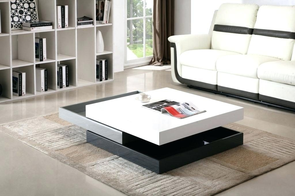 Stunning Deluxe Large Low Level Coffee Tables In Coffee Table White Coffee Table Tron Glossy Led Lightshigh Gloss (View 5 of 50)