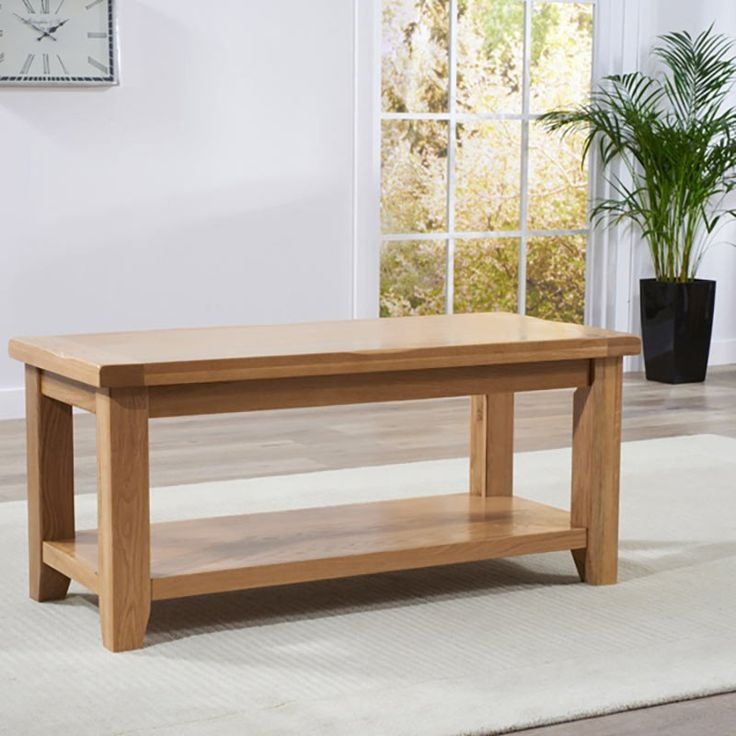 Stunning Deluxe Oak Coffee Table With Shelf Within Top 25 Best Oak Coffee Table Ideas On Pinterest Solid Wood (View 16 of 50)