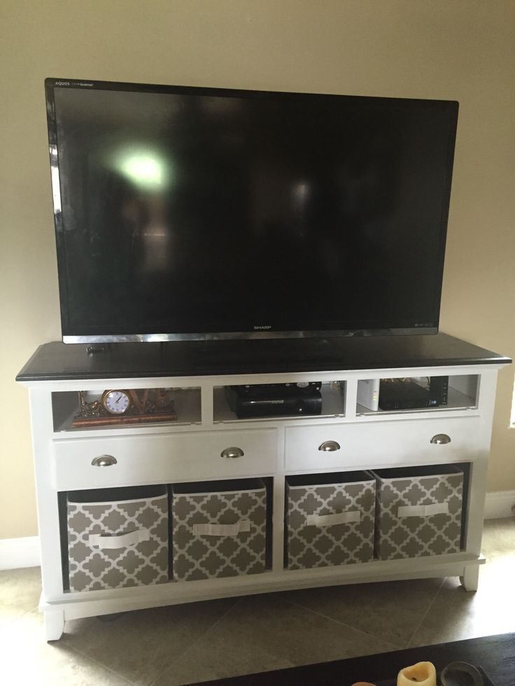 Stunning Deluxe TV Stands With Storage Baskets Throughout Best 10 Turn A Dresser Into A Tv Stand Ideas On Pinterest (View 24 of 50)