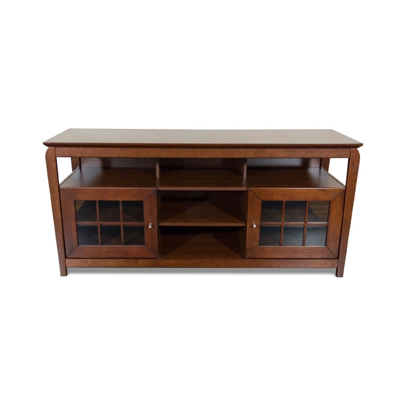 Stunning Deluxe Walnut TV Stands Inside Tech Craft Veneto Series Windowpane Tv Cabinet For 48 60 Inch (View 50 of 50)