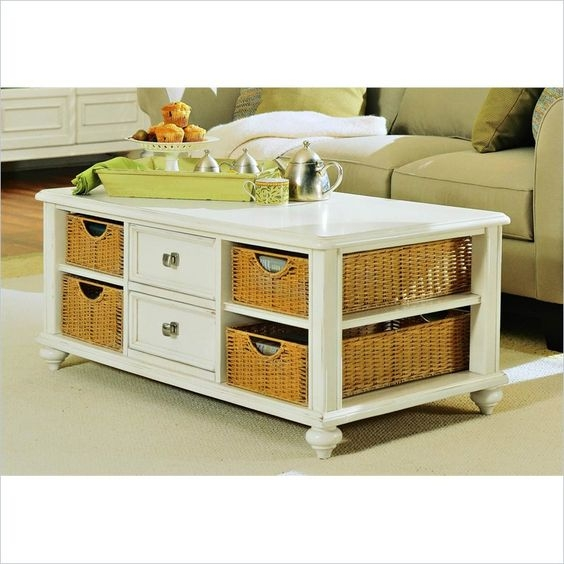 Stunning Deluxe White Coffee Tables With Baskets Regarding Amazing Of Coffee Table With Baskets 22 Well Designed Coffee (Image 33 of 40)