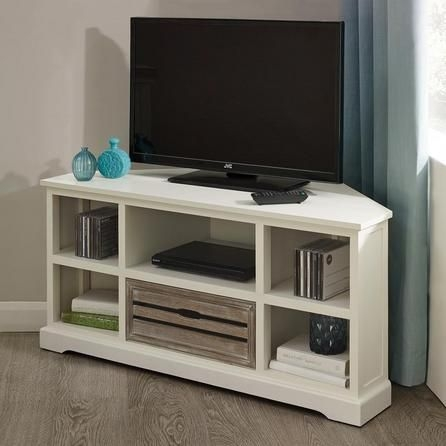 Stunning Deluxe White Wood Corner TV Stands Regarding Best 25 Corner Tv Unit Ideas On Pinterest Corner Tv Tv In (Image 45 of 50)