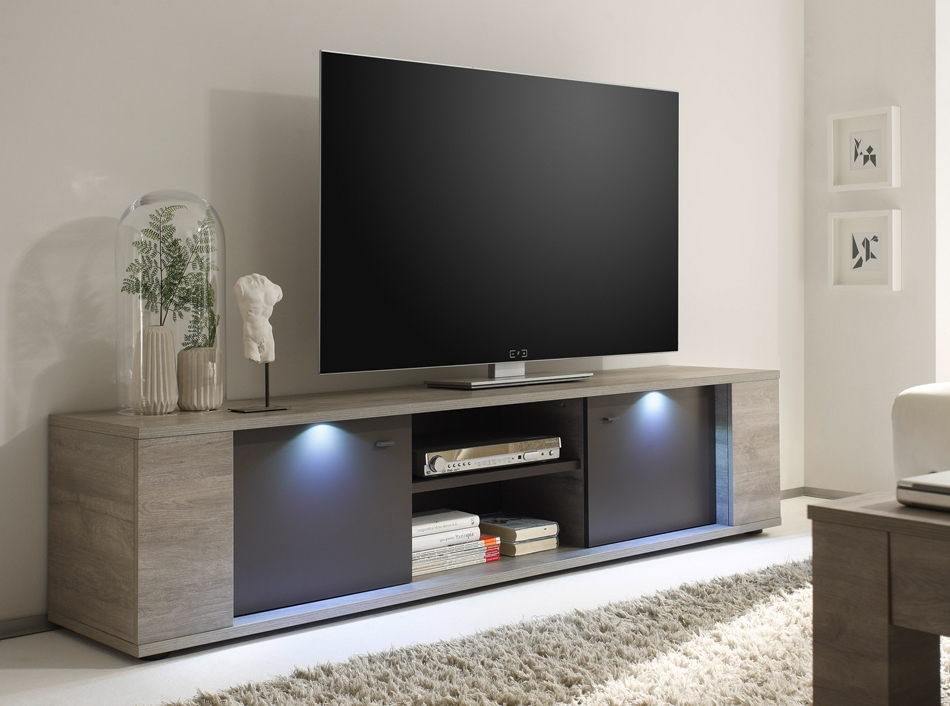 Stunning Elite Glass Front TV Stands With Tv Stand Sidney 75 Lc Mobili (Image 44 of 50)