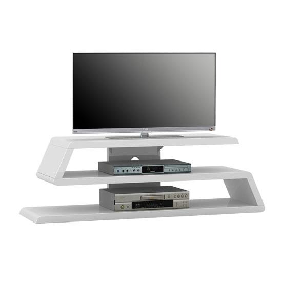Stunning Elite Gloss White TV Stands Pertaining To Louisiana White High Gloss Finish Plasma Tv Stand (View 19 of 50)