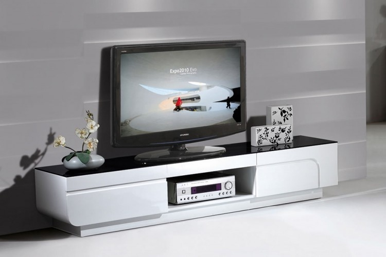 Stunning Elite High Gloss TV Cabinets Within White High Gloss 2m Tv Unit Unique Modern Design (View 7 of 50)