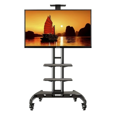 Stunning Elite Lockable TV Stands For Flat Screen Tv Cart Top 7 Advanced Portable Rolling Tv Stands (Image 43 of 50)