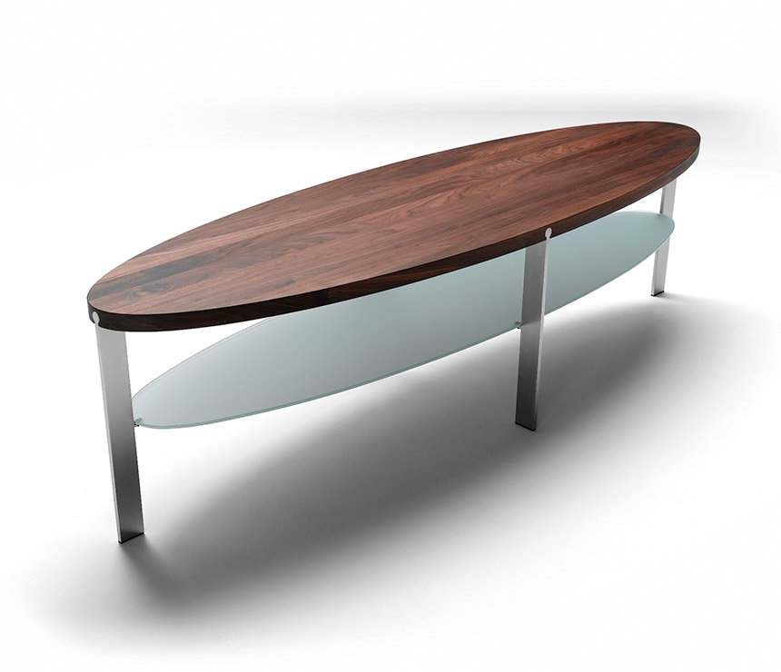 Wood Oval Coffee Table Made In China: Oval Glass And Wood Coffee Tables