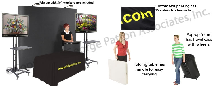 Stunning Elite Pop Up TV Stands For Tradeshow Exhibits Pop Up Frame Tv Stands Folding Table (Image 43 of 50)