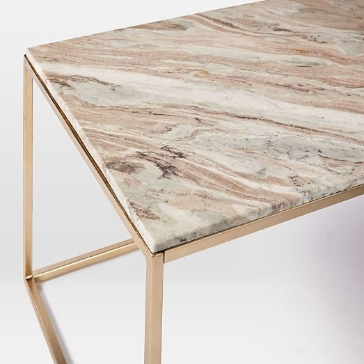 Stunning Elite Swirl Glass Coffee Tables Intended For Mira Coffee Table Swirled Sorbet West Elm (Image 40 of 50)
