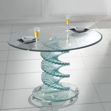Stunning Elite Swirl Glass Coffee Tables Within Coffee Table Clear Images Pioneer Transparent Glass Coffee Table (Image 41 of 50)