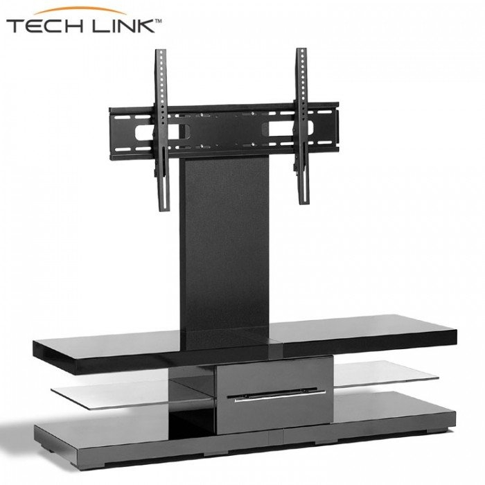 Stunning Elite Techlink TV Stands Throughout Techlink Ec130tvb Echo Tv Piano Gloss Black Cantilever Tv Stand (Image 38 of 50)