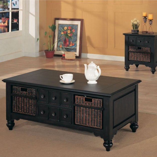 Stunning Elite White Coffee Tables With Baskets Pertaining To Coffee Table With Storage Baskets Idi Design (Image 34 of 40)