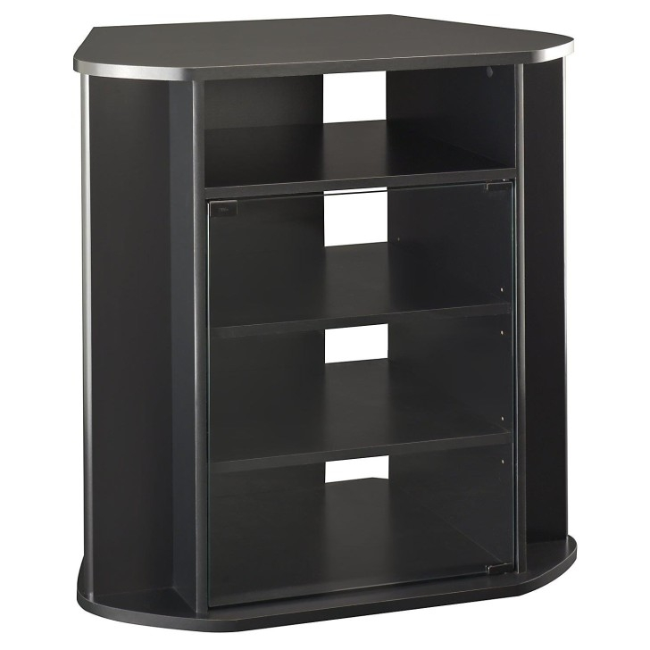 Stunning Famous Black TV Cabinets With Doors Inside Long Narrow Black Wooden Tv Cabinets With Ample Shelves Elegant (Image 45 of 50)