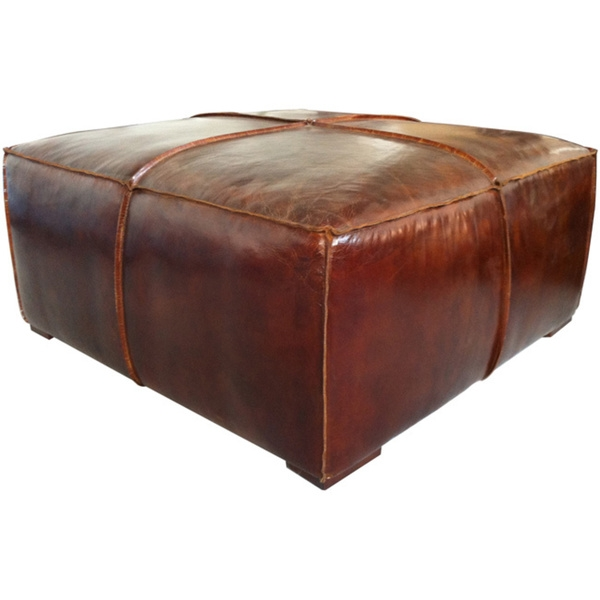 Stunning Famous Brown Leather Ottoman Coffee Tables With Storages With Coffee Table Astonishing Leather Ottoman Coffee Table In Your (Image 33 of 40)