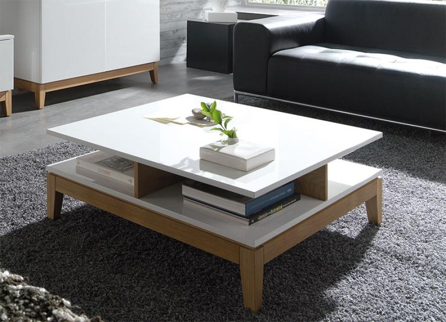 Stunning Famous Cream And Oak Coffee Tables In Living Room Best French Chateau White Square Oak Coffee Table With (Image 34 of 40)