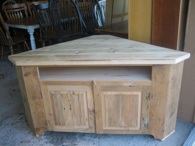 Stunning Famous Honey Oak TV Stands Throughout Barn Wood Corner Tv Stand Corner Tv Riser Made From Reclaimed (View 50 of 50)