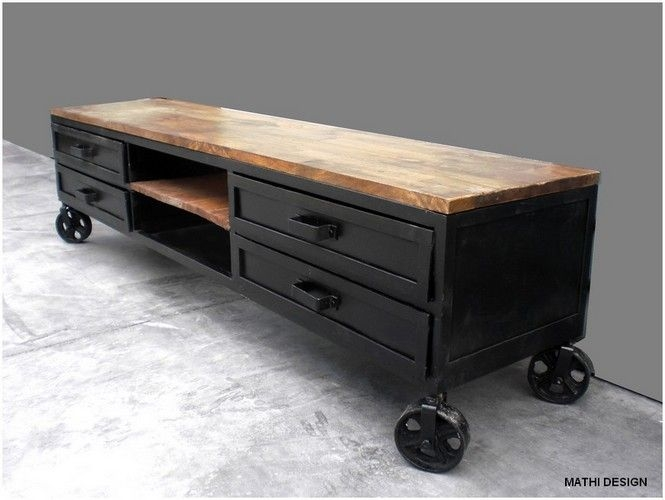 Stunning Famous Industrial Style TV Stands Intended For 28 Best Tv Meubels Images On Pinterest Tv Stands Pallets And Tv (View 10 of 50)