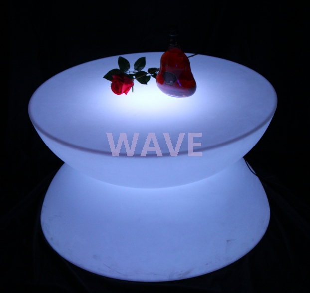 Stunning Famous Led Coffee Tables Within Fashion Round Shaped Led Coffee Tablecute Led Coffeebartable (Image 44 of 50)