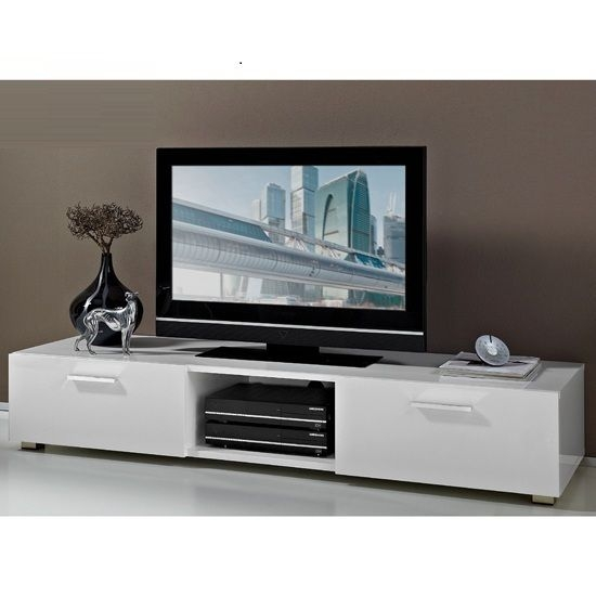 Stunning Famous Long White TV Stands With Best 20 White Gloss Tv Unit Ideas On Pinterest Tv Unit Images (Image 42 of 50)