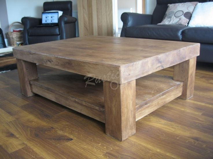 Stunning Famous Oak Coffee Table With Shelf Pertaining To Best 20 Rustic Wood Coffee Table Ideas On Pinterest Rustic (Image 46 of 50)