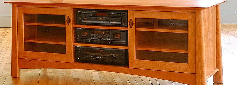 Stunning Famous Orange TV Stands Pertaining To Dresser Tv Stand Combos Vermont Woods Studios (View 11 of 50)