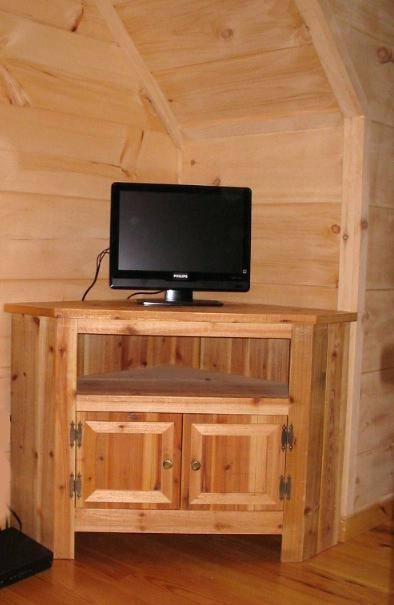 Stunning Famous Pine Corner TV Stands With Rustic Corner Tv Stand Effluvium (Image 41 of 50)