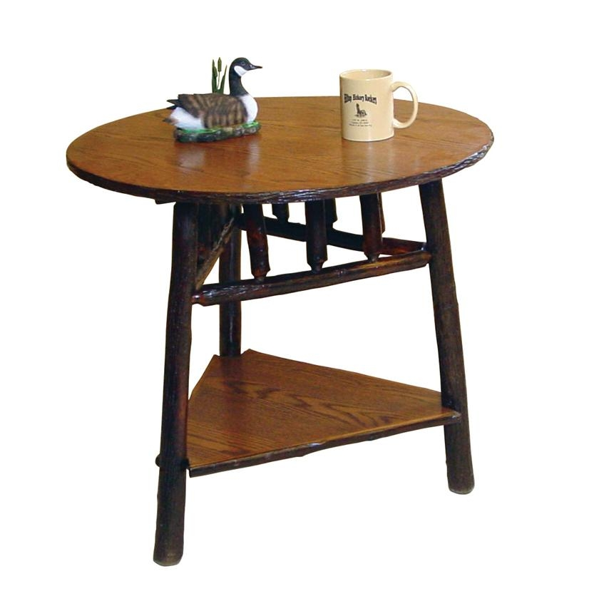 Stunning Famous Rustic Coffee Tables With Bottom Shelf Intended For Round Rustic End Table With Shelf (Image 43 of 50)