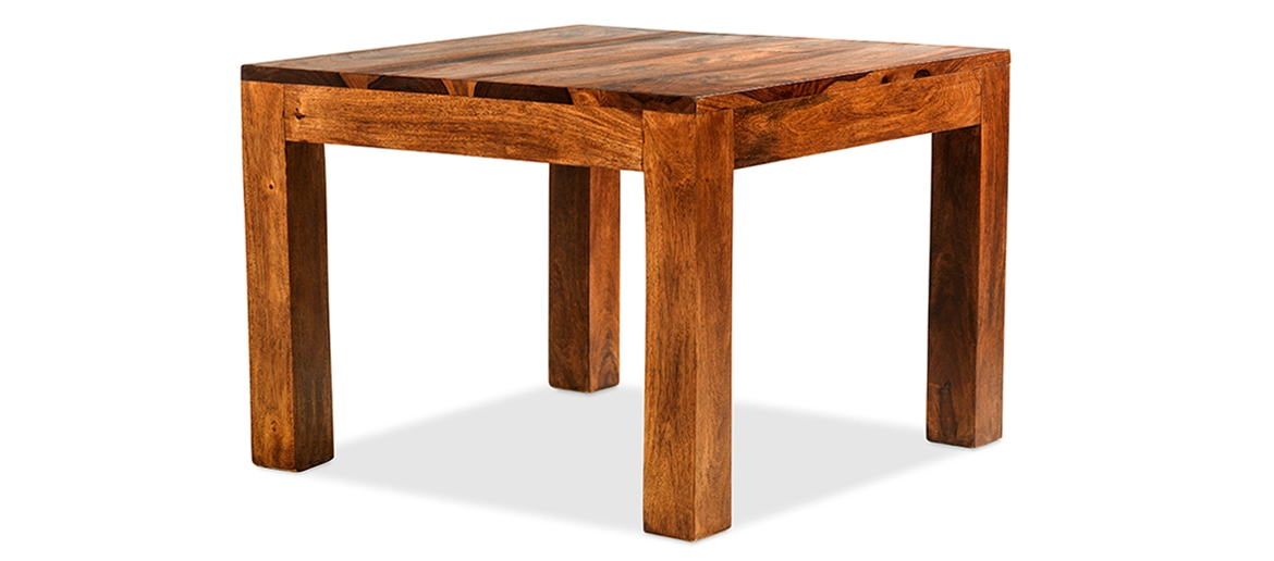 Stunning Famous Sheesham Coffee Tables Inside Cube Sheesham 60 Cm Coffee Table Quercus Living (View 44 of 50)