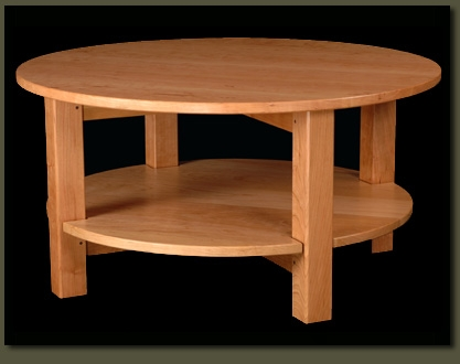 Stunning Famous Solid Round Coffee Tables Intended For Round Coffee Table With Round Tier Shelf Solid Wood Custom (Image 33 of 40)