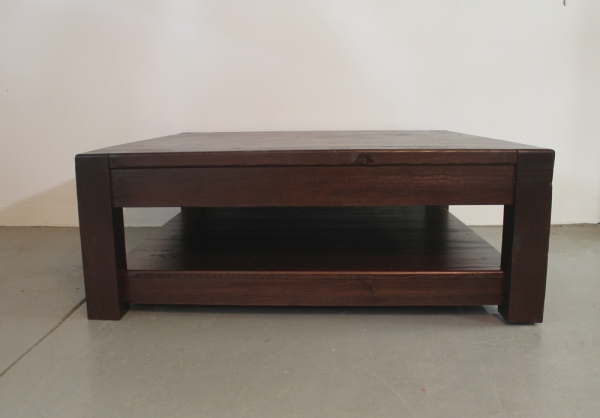 Stunning Famous Square Pine Coffee Tables Intended For Large Square Old Pine Coffee Table In Espresso Lake And Mountain (Image 45 of 50)