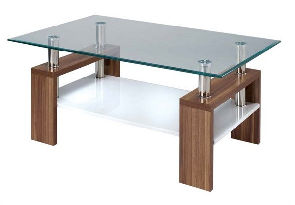 Stunning Famous Transparent Glass Coffee Tables With Regard To 15 Stylish Rectangular Glass Top Coffee Tables Home Design Lover (Image 41 of 50)