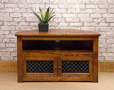 Stunning Famous TV Stands 100cm Wide Inside Solid Jali Mango Wood Furniture Rustic Farm Corner Tv Stand (View 24 of 50)