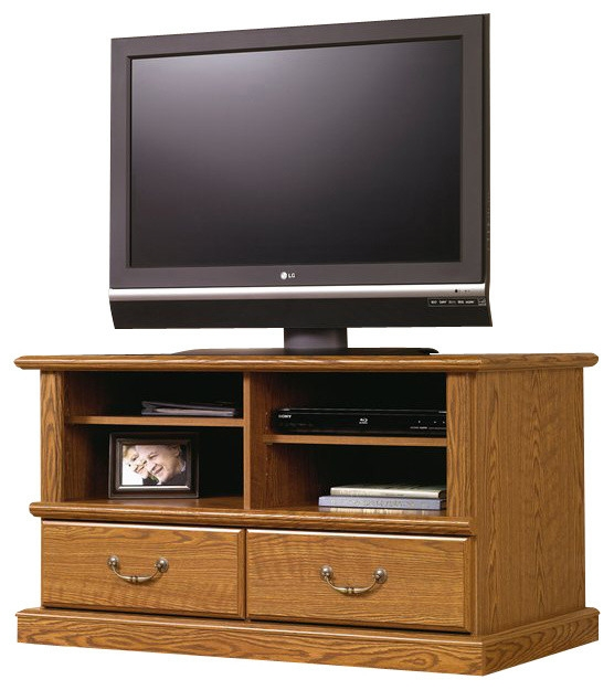 Stunning Famous TV Stands In Oak Inside Sauder Orchard Hills Tv Stand In Carolina Oak Finish Traditional (View 10 of 50)