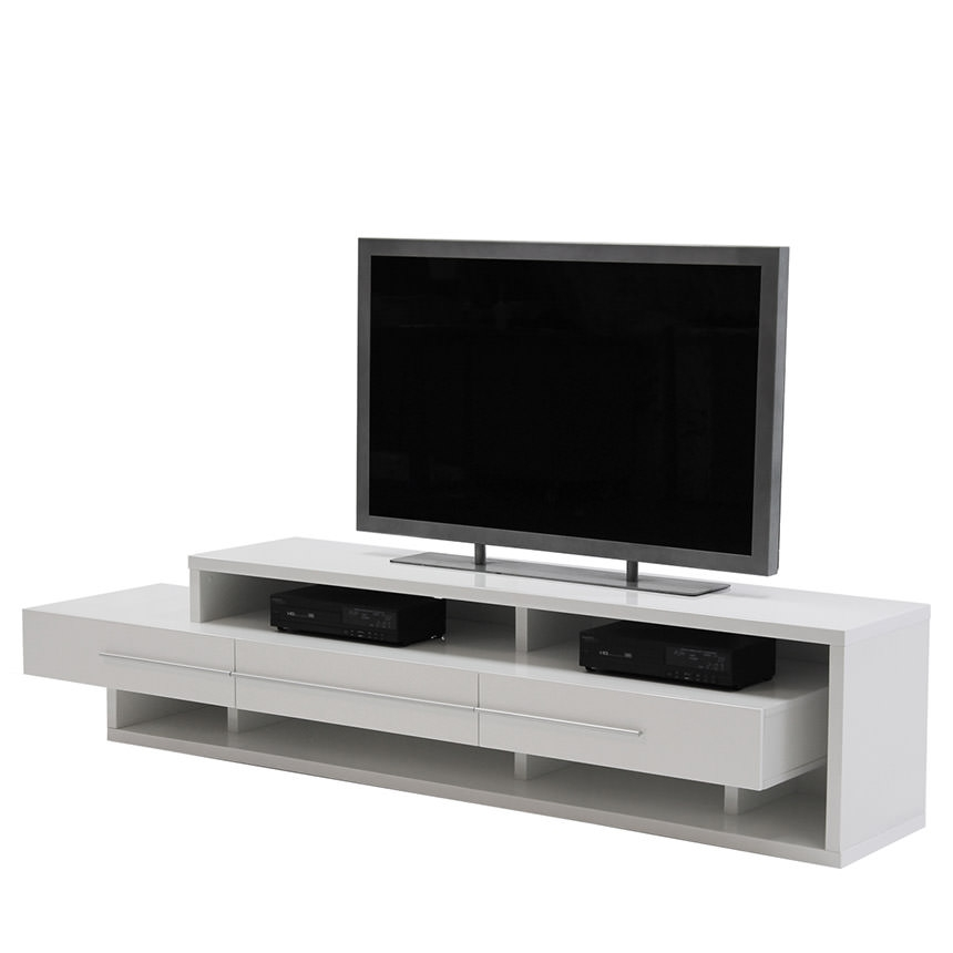 Stunning Famous White TV Stands Intended For Avanti White Tv Stand El Dorado Furniture (View 34 of 50)