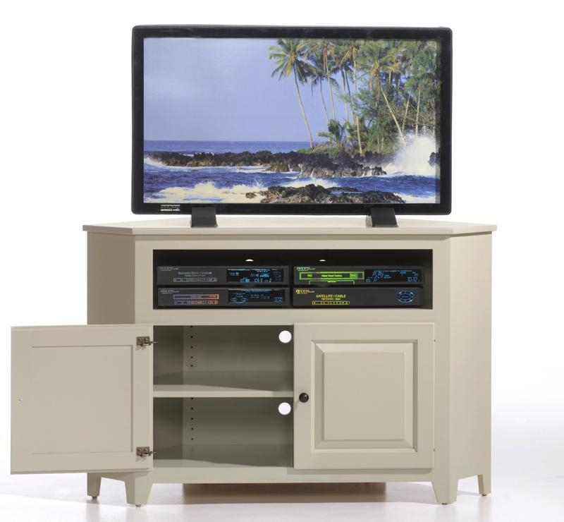 Stunning Famous Wooden Corner TV Stands With Regard To Amish Economy Corner Tv Stand (View 23 of 50)