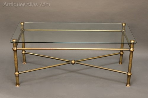 Stunning Fashionable Antique Brass Glass Coffee Tables Regarding Glass And Brass Coffee Table Idi Design (Image 42 of 50)
