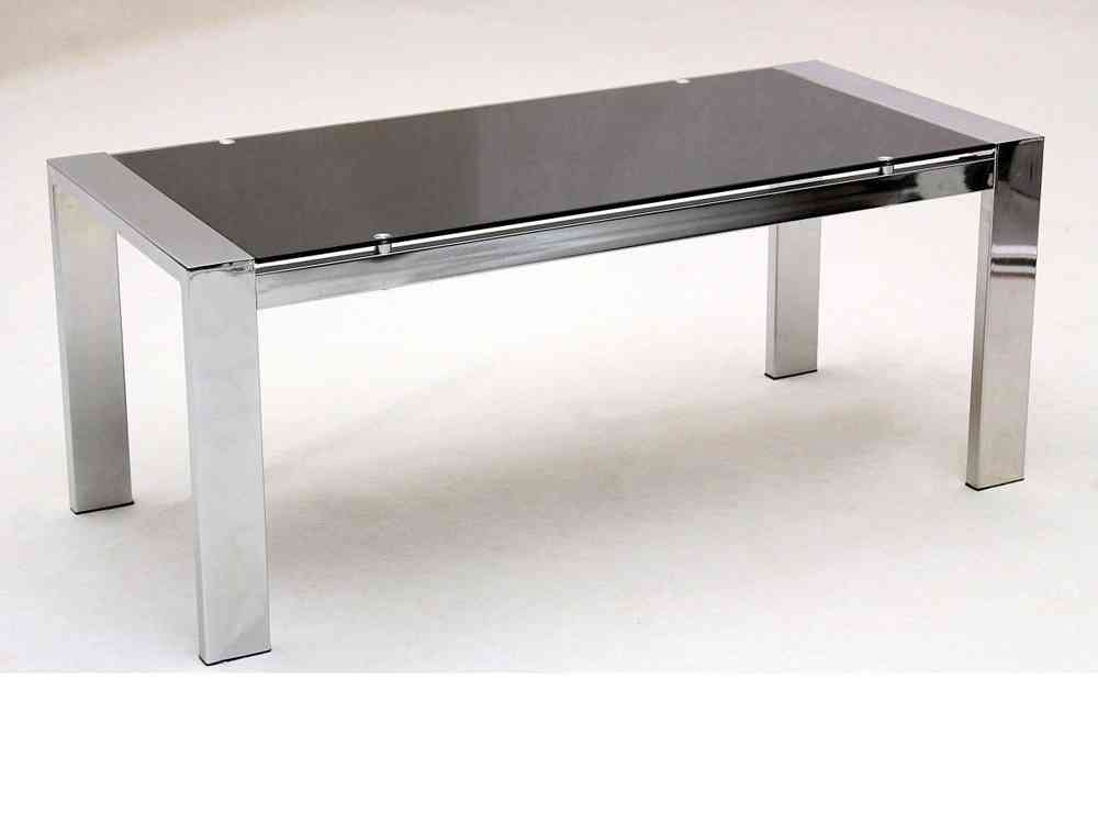 Stunning Fashionable Chrome Leg Coffee Tables Throughout Large Glass Coffee Table Rectangle Chrome Legs Homegenies (Image 43 of 50)