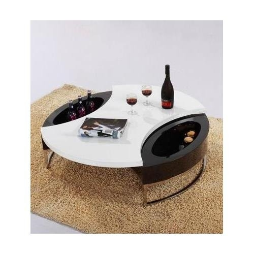 Stunning Fashionable Circular Coffee Tables With Storage Intended For Round Circle Coffee Tables Cocktail Tables (Image 41 of 50)