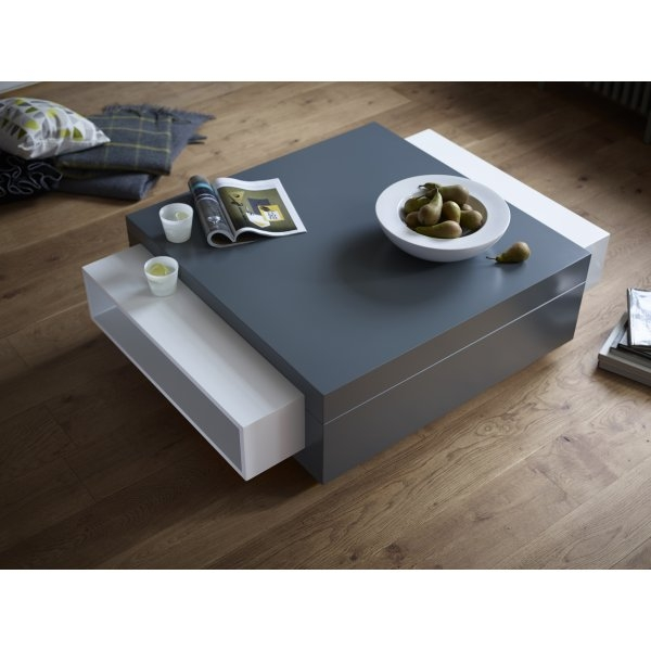 Stunning Fashionable Grey Coffee Tables With Regard To Buy Gillmore Space Grey Contemporary Coffee Table From Fusion Living (View 32 of 50)