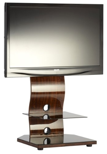 Stunning Fashionable Iconic TV Stands With Buy Iringa Ukgl 510 Designer Glass Tv Stand Iconic Brand Walnut (View 12 of 50)