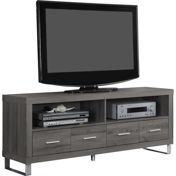 Stunning Fashionable Mango TV Stands With Regard To Modern Metal Tv Stands Entertainment Centers Allmodern (View 46 of 50)