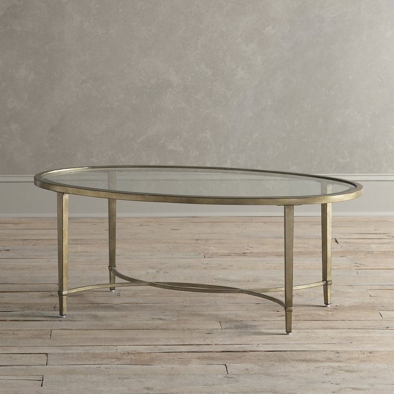 Stunning Fashionable Metal Oval Coffee Tables Inside Glass Coffee Tables Youll Love Wayfair (View 13 of 50)