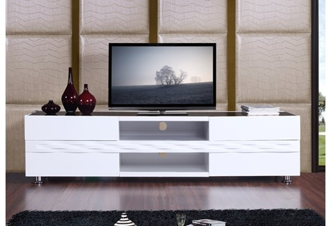 Stunning Fashionable Modern White Gloss TV Stands Within B Modern Publisher 708 High Gloss White Tv Stand Bm 803 Wht (Image 42 of 50)