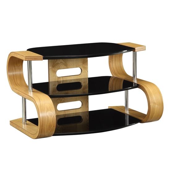 Stunning Fashionable Oak Veneer TV Stands In Curved Wooden Oak Veneer Lcdplasma Tv Stand Jf203  (Image 45 of 50)