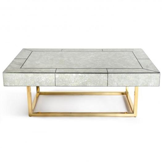 Stunning Fashionable Oval Mirrored Coffee Tables Throughout Oval Antique Mirrored Panels Coffee Table (Photo 34 of 50)