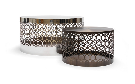 Stunning Fashionable Round Steel Coffee Tables Inside Round Bronze Coffee Table Idi Design (Image 42 of 50)