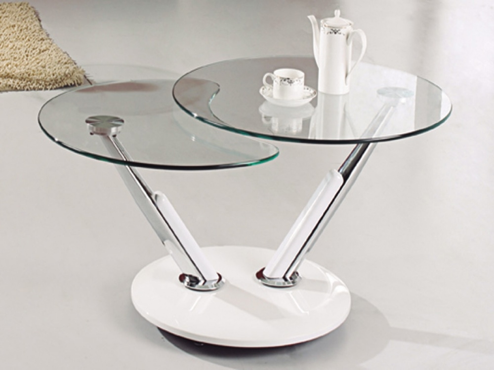 Stunning Fashionable Swirl Glass Coffee Tables In Round Coffee Table Impressive Round Glass Coffee Table Glass Top (Image 42 of 50)