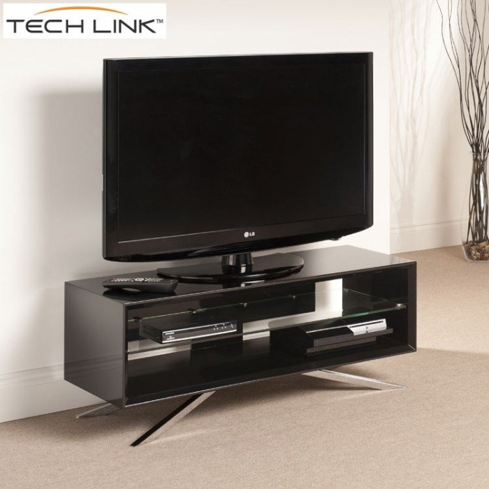 Stunning Fashionable Techlink Arena TV Stands Within Techlink Aa110b Arena Piano Gloss Black Tv Stand  (Image 42 of 50)